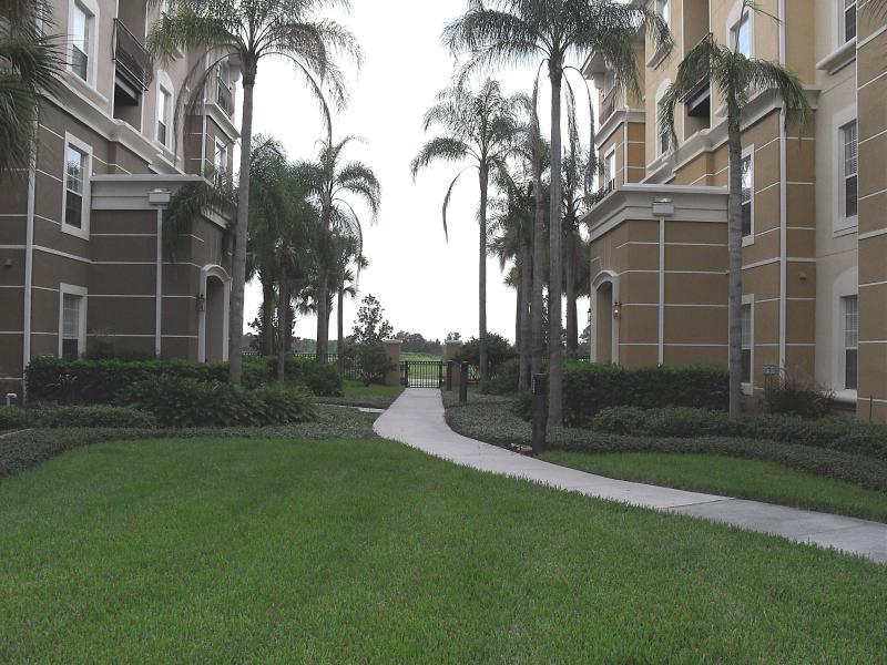 Walkway to the pool/lake