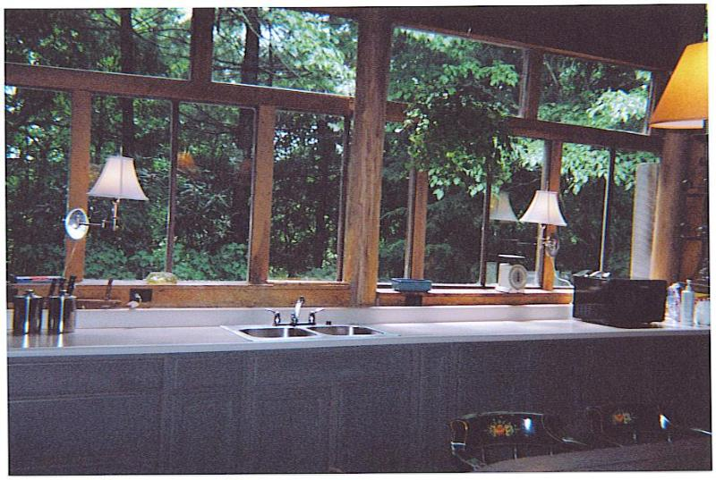 Even cooking becomes a pleasure overlooking woodland views