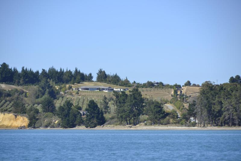 Property viewed from the sea