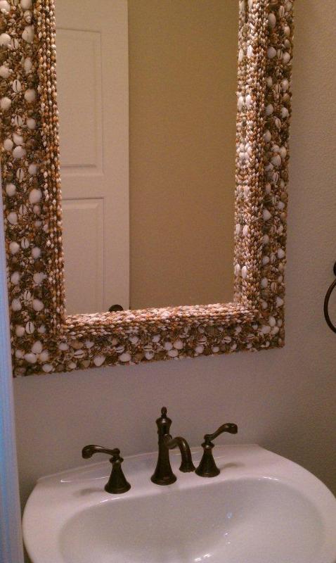 Downstairs Bathroom Mirror detail