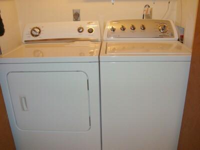 Upscale High Efficiency Full Size Washer & Dryer for your convenience