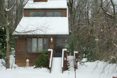 JOY CHALET during a winter snow