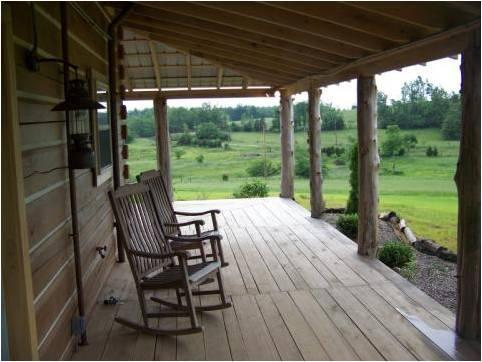 Relax in one of the comfortable rocking chairs on the wraparound porch