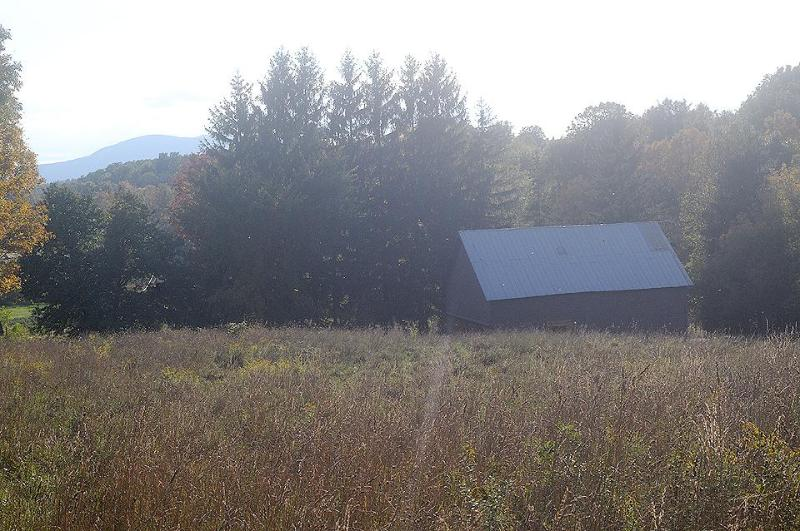 Back pasture with barn.