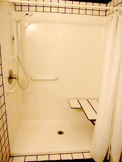 Handicap wheel chair accessible shower