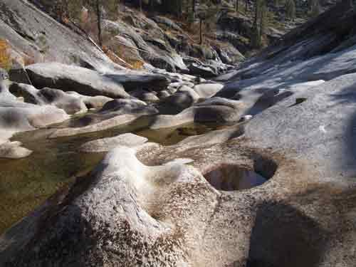 Dinkey Creek pools, a short hike away