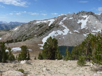 Easy access to the Pacific Crest Trail in the high Sierras