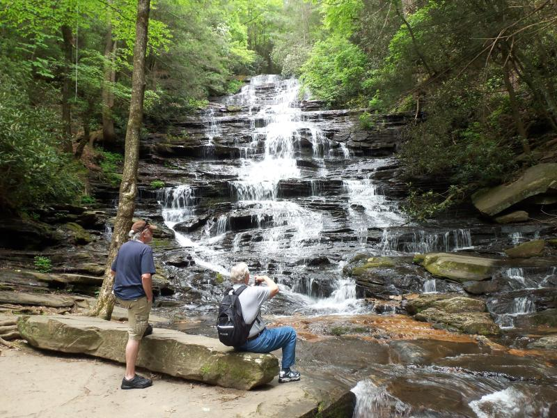 We give directions to area waterfalls/hikinging trails/fishing/horsebacks riding