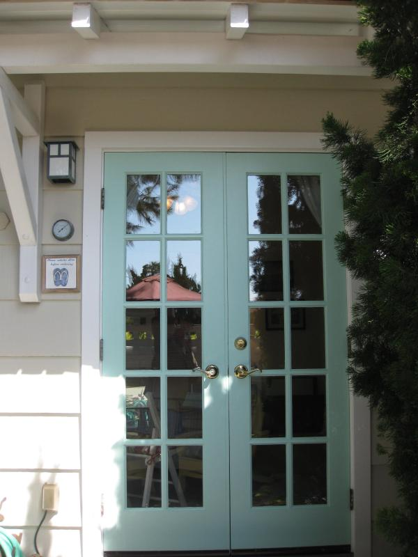 Through the patio, french doors lead to your relaxing, Beach Studio.