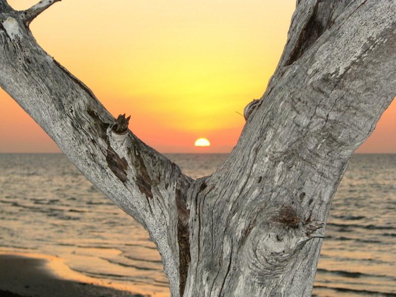 Atardecer en la playa de Parlay...