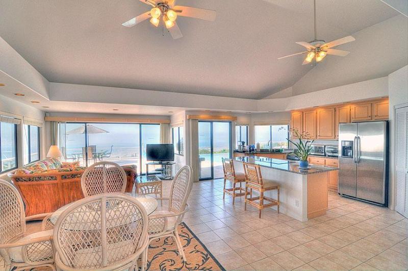 Living Room/Dining Room - new furniture, cabinets, quartz countertops.