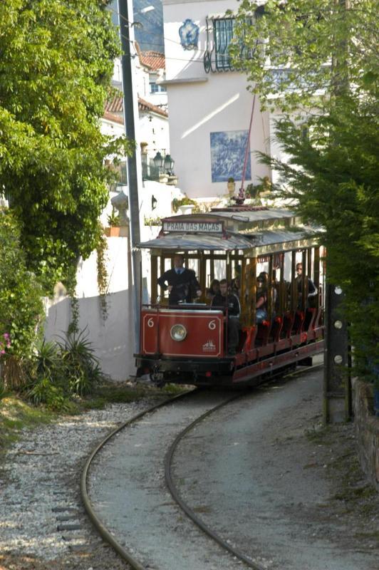 Historical tram connecting Sintra to its beach: Praia das Maças