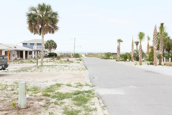 Street view to the beach