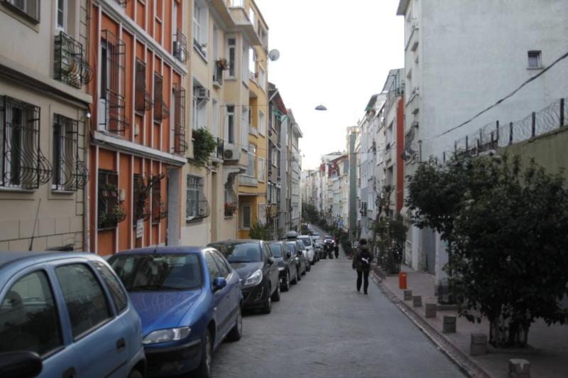 Street of our apartment Taksim Rental apartment
