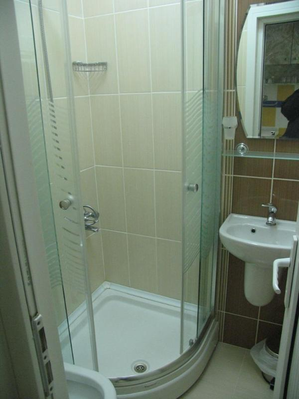 Bathrooms of our small flats Taksim Rental apartment