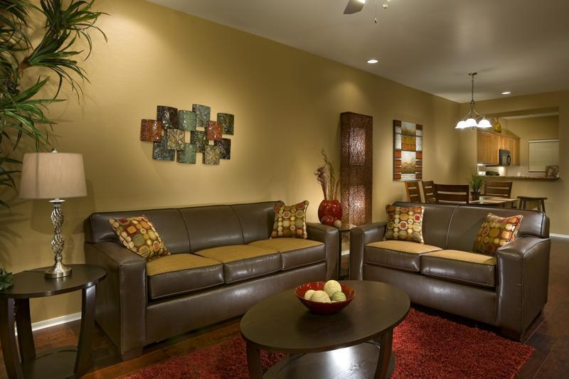 Living Room: Comfortable seating, full sleeper sofa, high ceilings, and more!