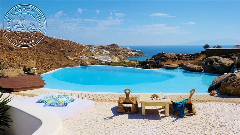 Villa ADAM pool area view