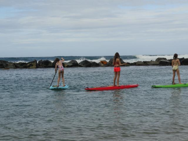Paddle boarding and snorkeling available at a nearby beach at the Ritz Reserve.