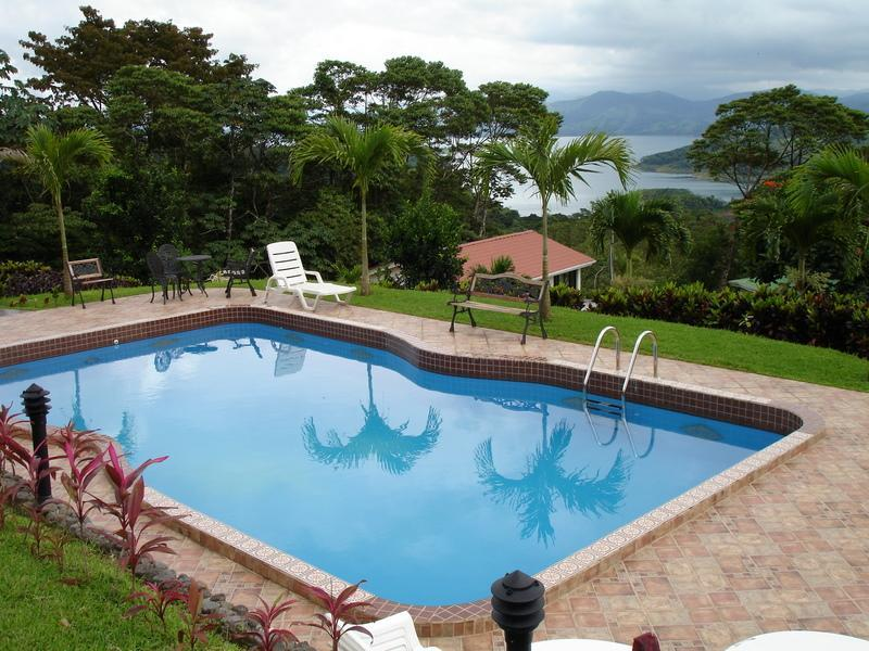 Our Pool with a View of Lake Arenal