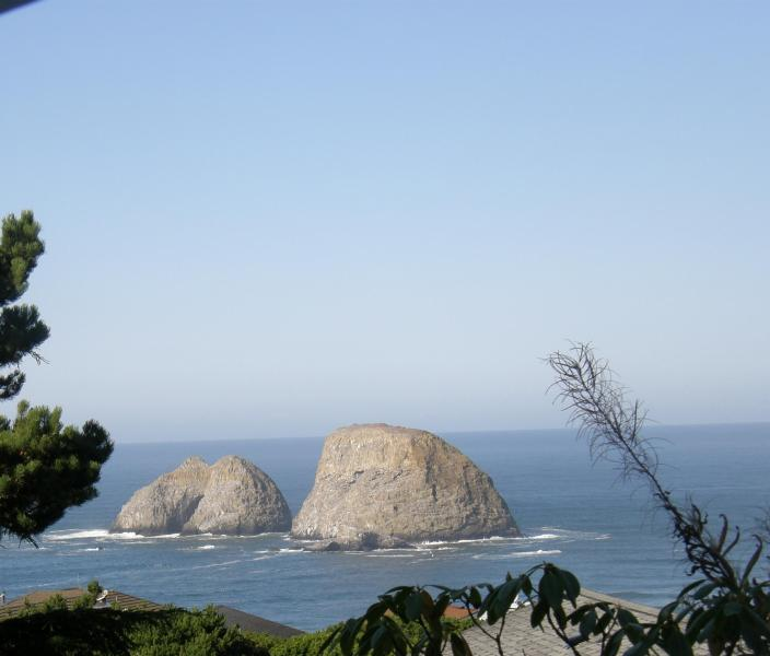 A view of 3 Arch Rocks right outside your upper deck.