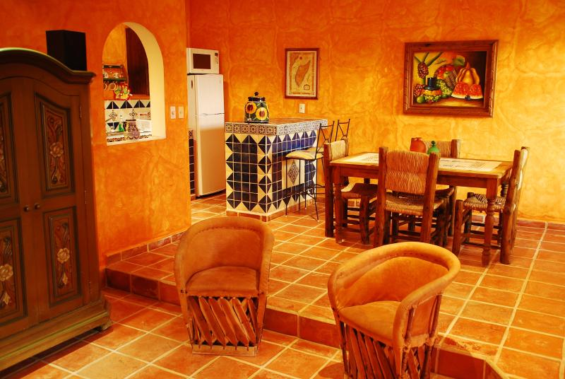 Festive Mexican Colonial style, with traditional furniture is a signature of Casa Colonial