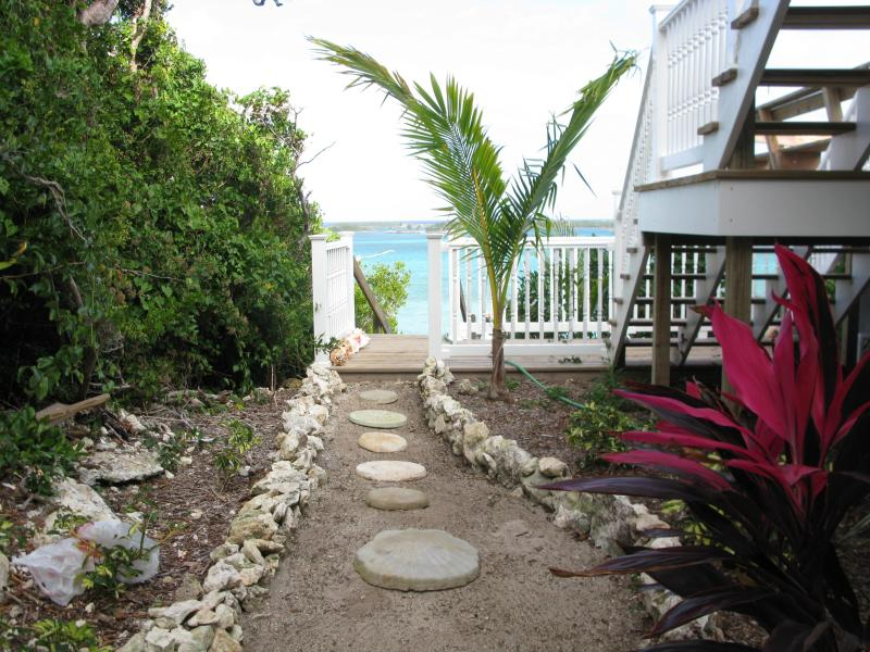 Garden looking out to Sea of Abaco