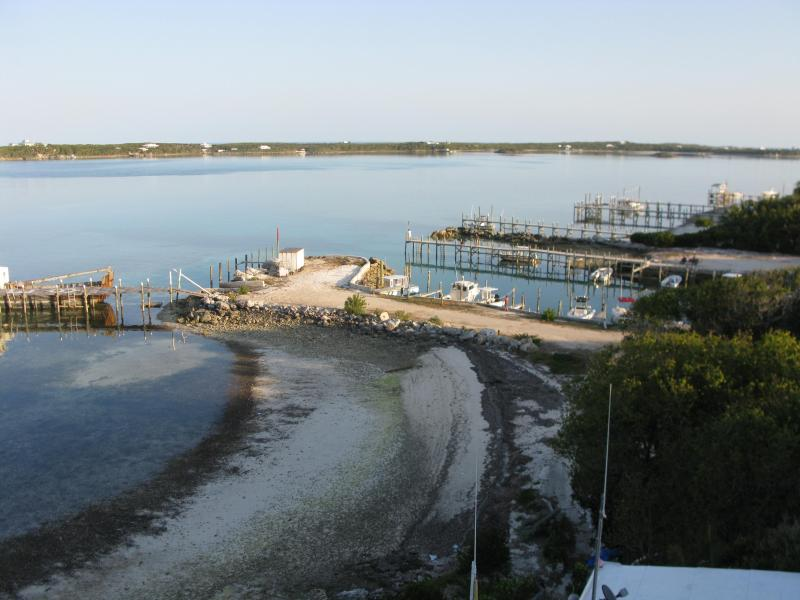 View of marina from the deck