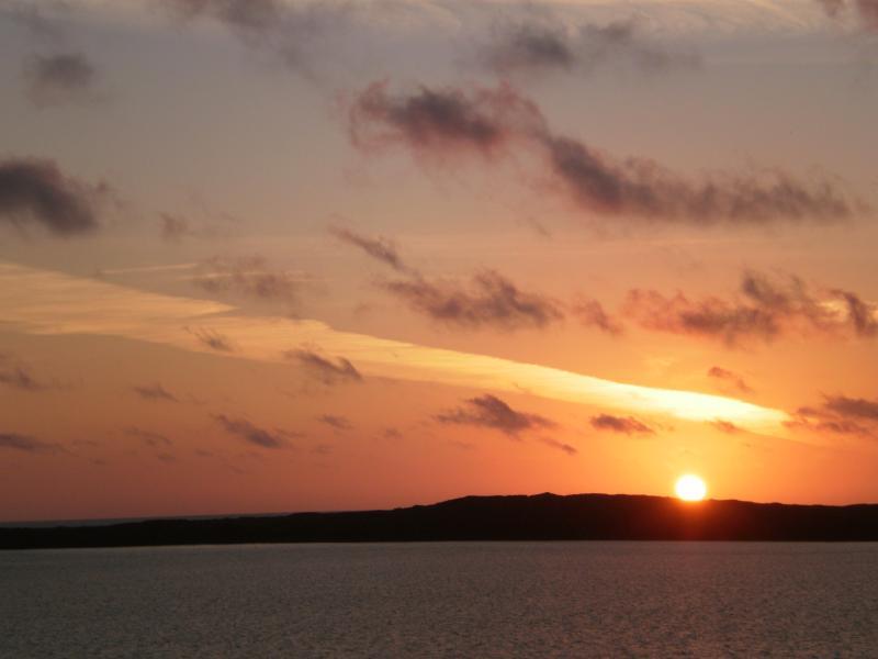 Sunrise seen from deck