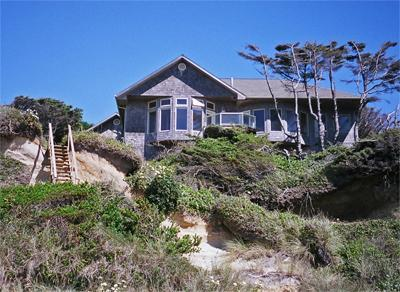 Beautifully perched above the beach providing sweeping views