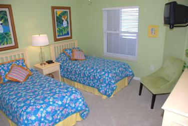 Second Bedroom with 2 beds,TV and VCR