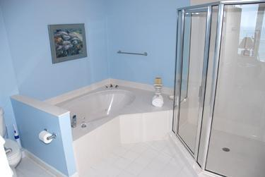 Master Bath - with walk in shower and whirlpool tub