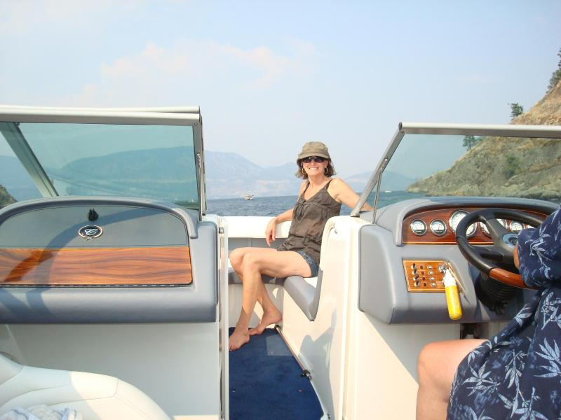 Hire a boat on peachland lake or bring your own, there room