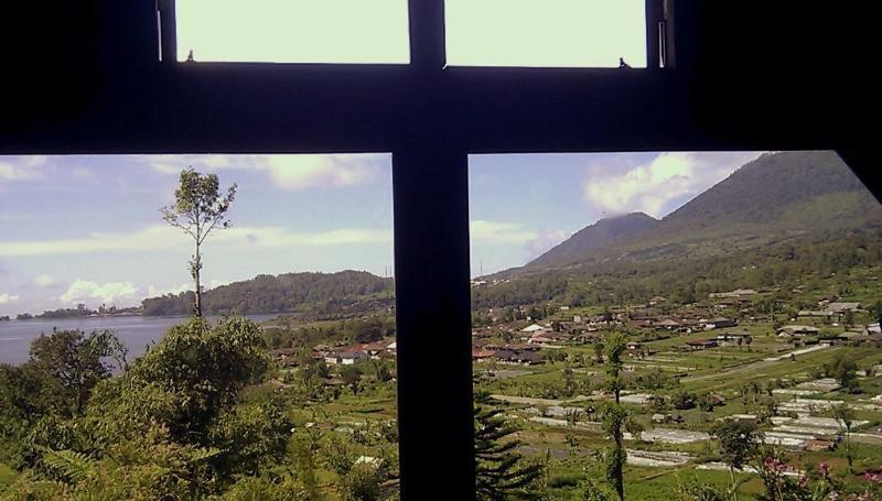Beautiful view of Lake Beratan from TV room