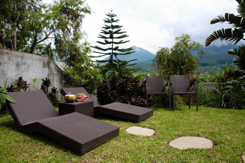 Relax on the sun loungers and listen to the whispers of nature around you.