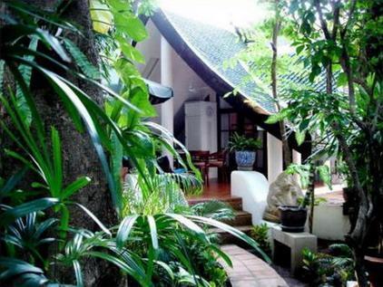 Ingang van de bungalow
