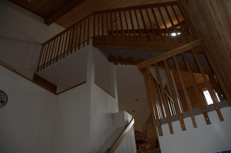 View up toward loft from ground floor