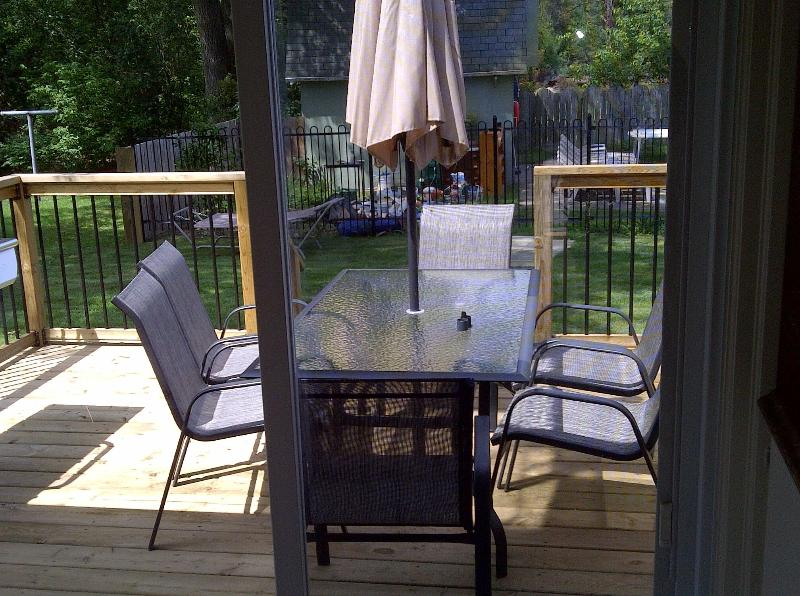 Upstairs Deck Furniture with Outdoor Gas Barbecue
