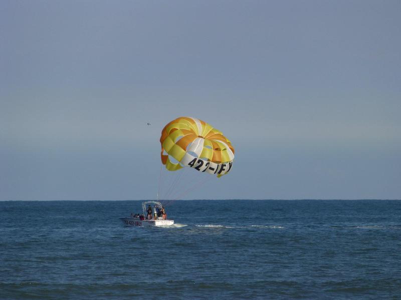 Parasailing at Virginia Beach.