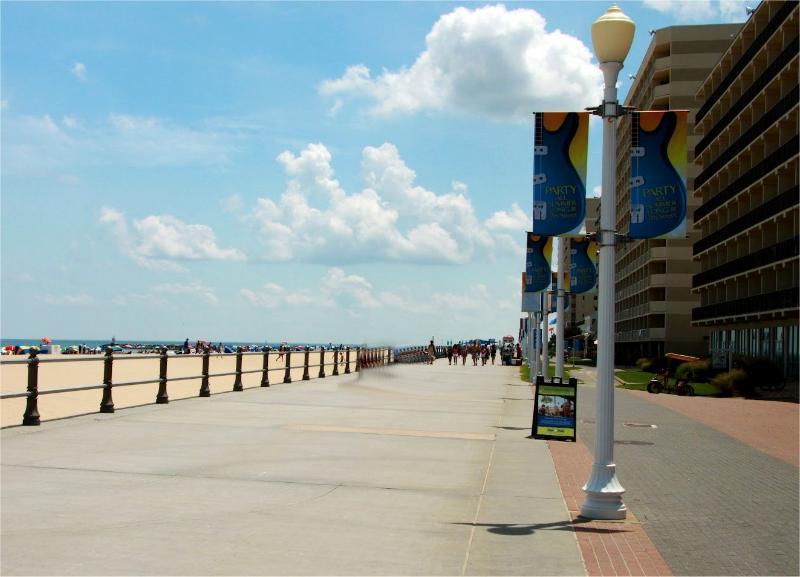 Famous Boardwalk is just 1 mile away