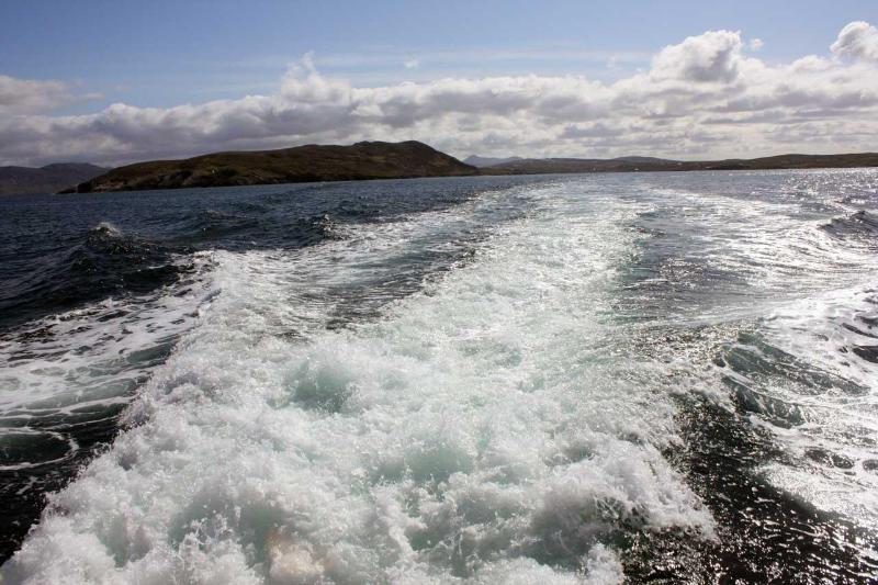 On the boat to Inishbofin