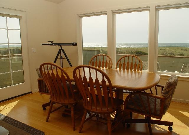 Time to eat ? check out the view   with only sand dunes to sand and water