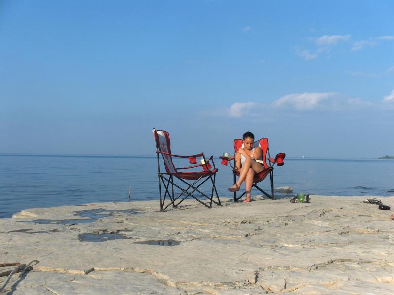 shale beach- relaxing