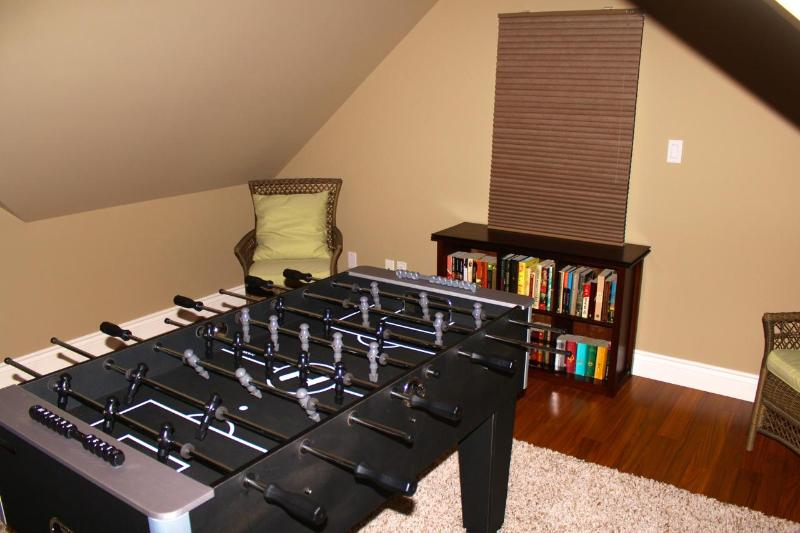 Foos Ball table in third floor recreational area