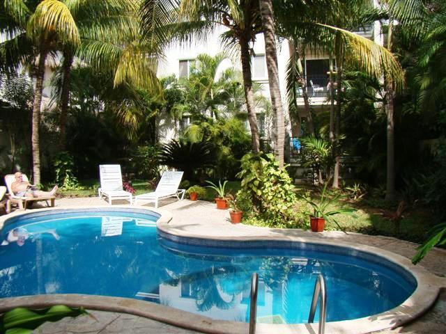 common areas swimming pool and garden