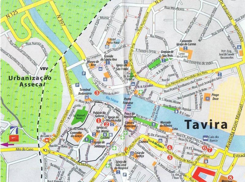 Mappa di Villa a Tavira