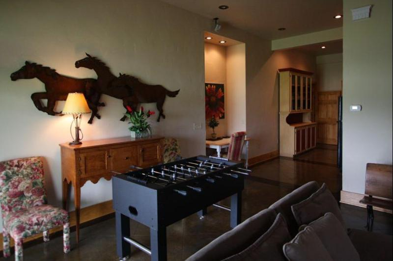 2nd living room with foosball table