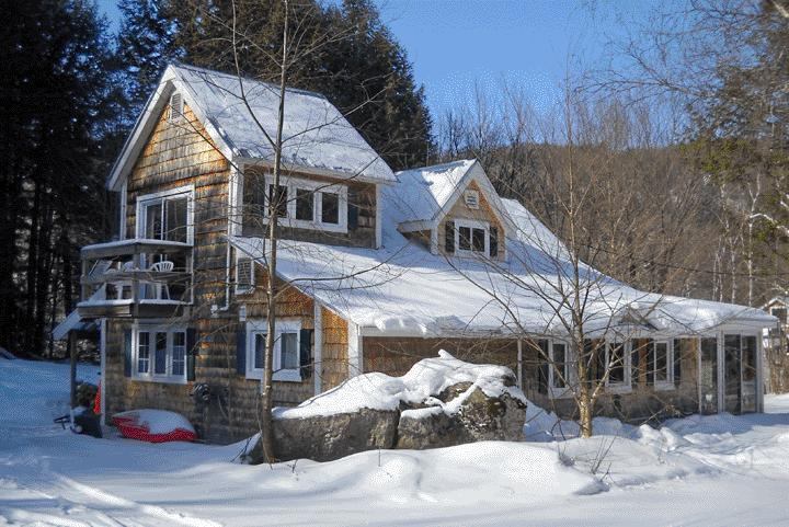 Cottage during ski season