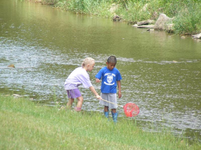 Fun at the creek