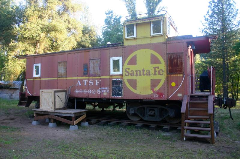 Entrance to Caboose