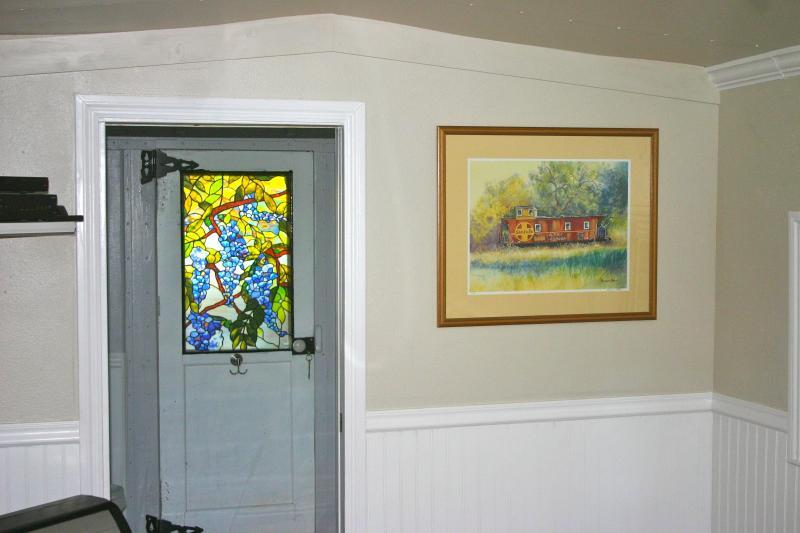 Bathroom Door and Living Room